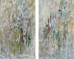 CLARITY 2008 acrylic, oil on canvas 48x24 each (diptych)