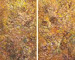 ETERNITY 2008 acrylic on canvas 72x36 each (diptych)