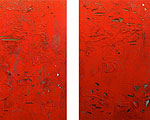 HEAT 2005 acrylic, plastic on canvas 60x48 each (diptych)